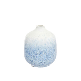 Shaded enamel ceramic bottle vase
