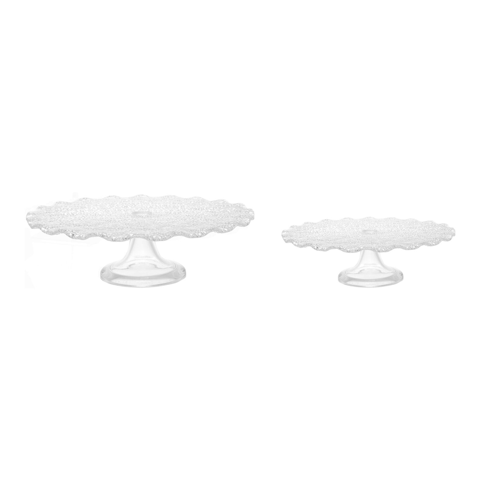 Lvv scalloped glass cake stand