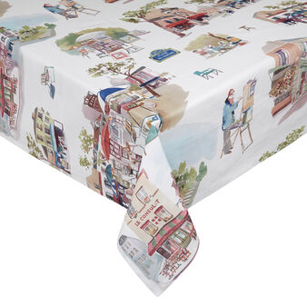 100% cotton tablecloth with Montmartre print