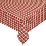Cotton blend tartan tablecloth with lurex