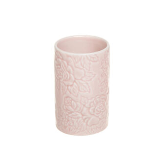 Rose ceramic toothbrush holder