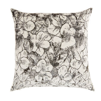 Cushion with flower print 50x50cm