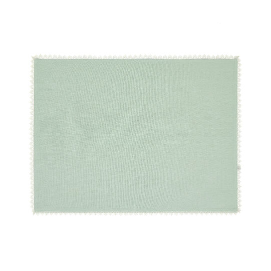 100% cotton table mat with lace edging