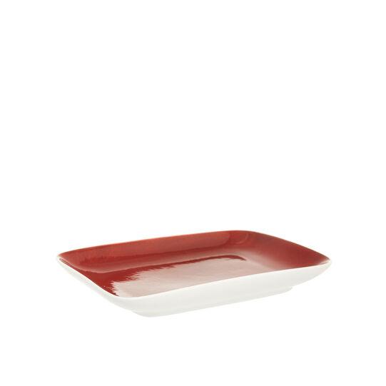 Speckled-effect porcelain side plate