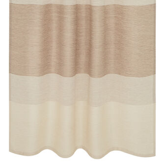 Striped degradé linen blend curtain with hidden loops