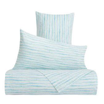 100% cotton striped duvet cover set