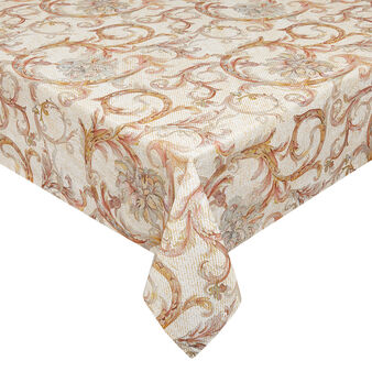 100% cotton tablecloth with medallion print