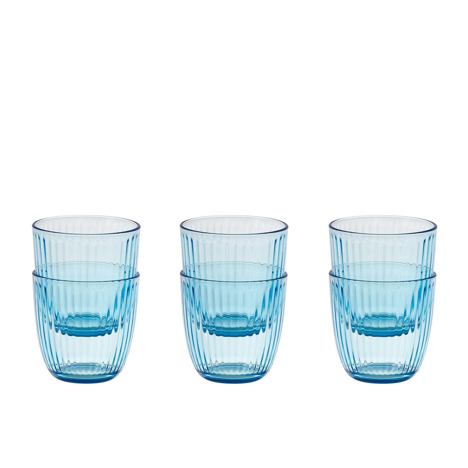 Set of 6 coloured glass tumblers