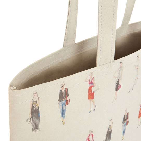Sandra Jacobs print regenerated leather bag