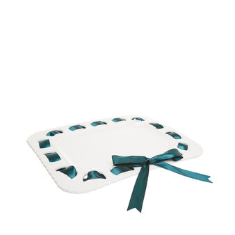 Ceramic tray with ribbon