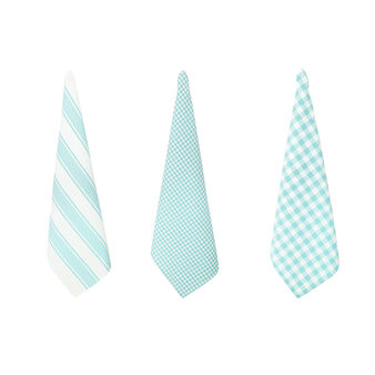 3-pack striped and check tea towels in 100% cotton