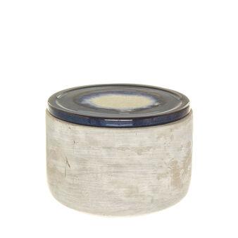 Blue shaded-effect ceramic box