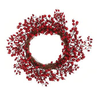 Corona decorativa bacche rosse