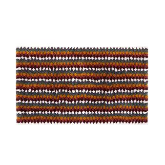 Patterned cotton bath mat