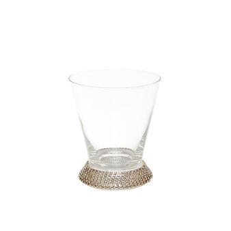 Bicchiere vetro base diamanti