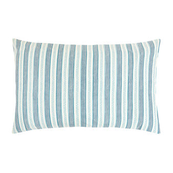 Organic cotton pillowcase with striped pattern