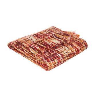 Multi-coloured crochet throw