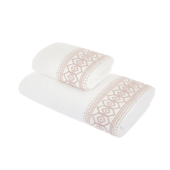 100% cotton towel with linen trim