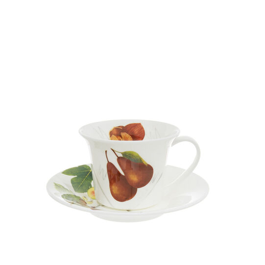 Fine bone china tea cup with vegan La Cucina Italiana decoration