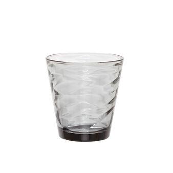 Bicchiere vetro grigio