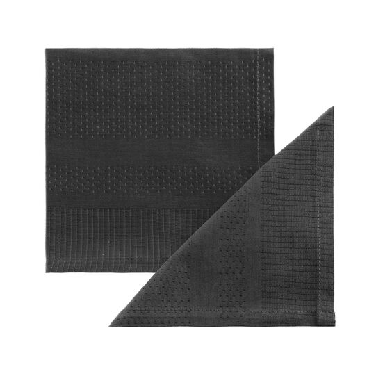 Set of two Zefiro 100% Egyptian cotton jacquard napkins
