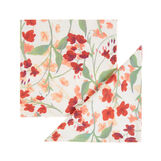 Set of 2 napkins in cotton twill with lily-of-the-valley print