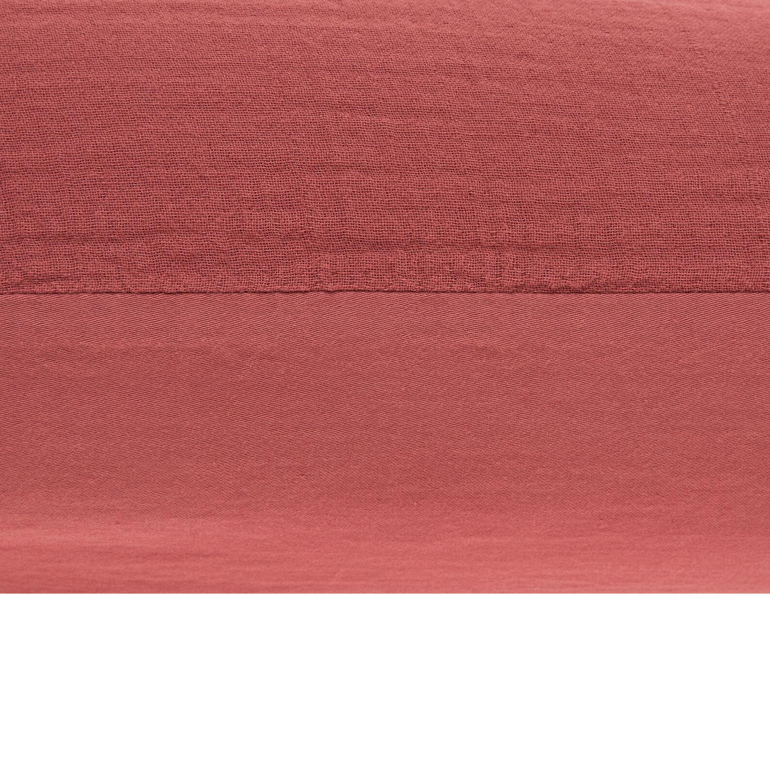 Solid colour pillowcase in cotton gauze