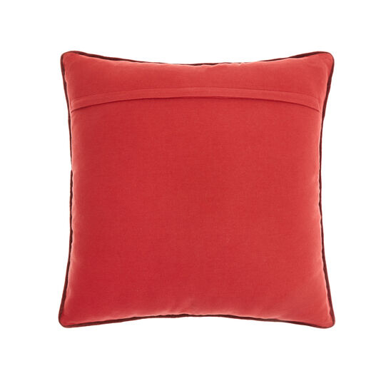 Cotton cushion with embroidery (45x45cm)