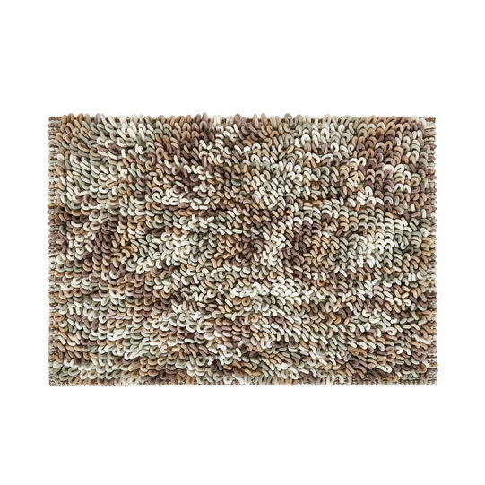 Bath mat in shaggy cotton blend