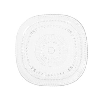 Transparent plastic dinner plate