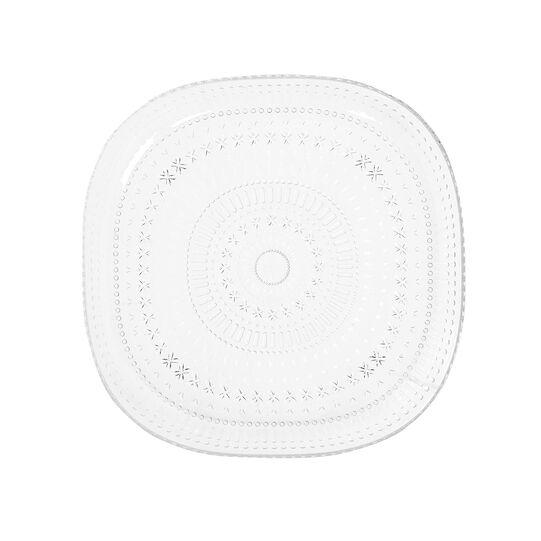 Transparent plastic dinner plate