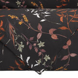Cotton satin duvet cover set with botanic pattern