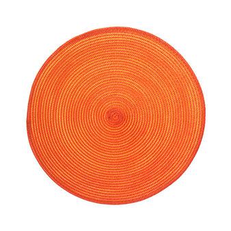 Plain round table mat in plastic