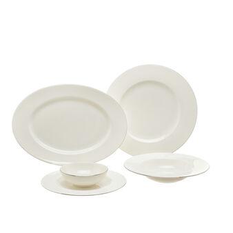 Linea tavola new bone china con filo platino Roma