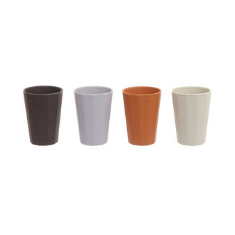 Solid colour bamboo cup