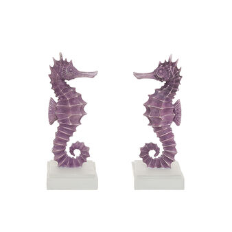 2-piece set of hand-finished seahorse bookends