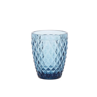 Decorated glass tumbler