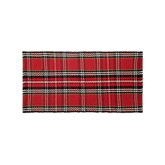 Kitchen mat in cotton with tartan motif