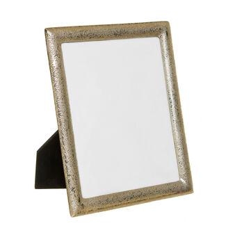 Photo frame in nickel-effect metal