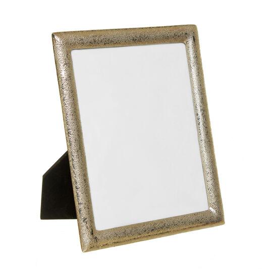 Portafoto in metallo effetto nickel