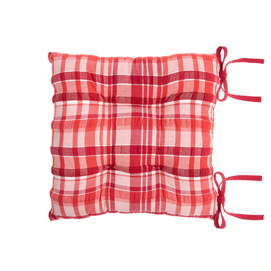 100% cotton check seat pad
