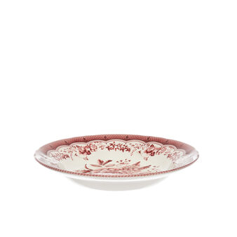 Victoria ceramic soup bowl with floral decoration