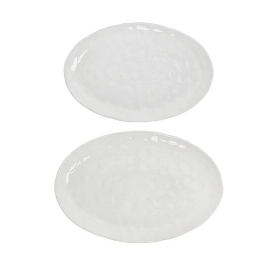 White oval porcelain plate