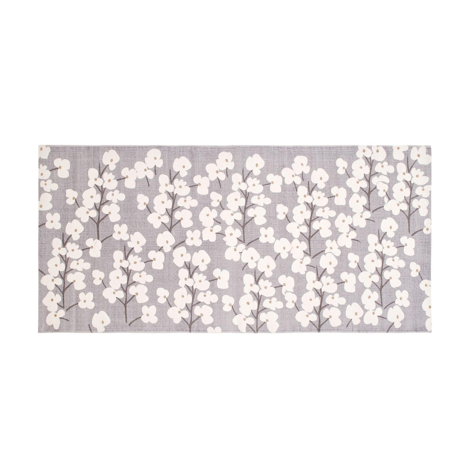 Tappeto cucina puro cotone floreale