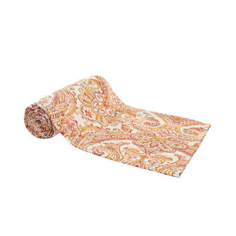100% cotton throw with paisley print