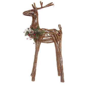 Hand-made decorative reindeer in vine wood