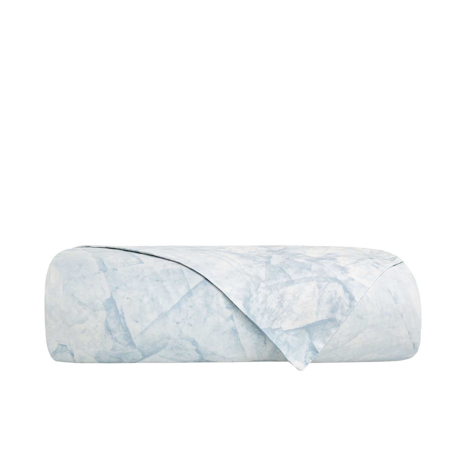 Marble patterned flat sheet in cotton satin