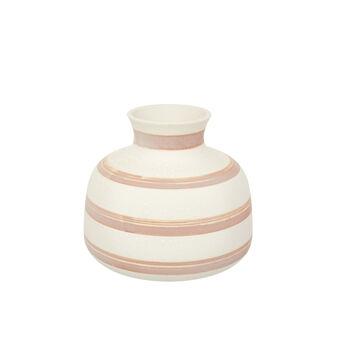 Vaso ceramica artigianale a righe