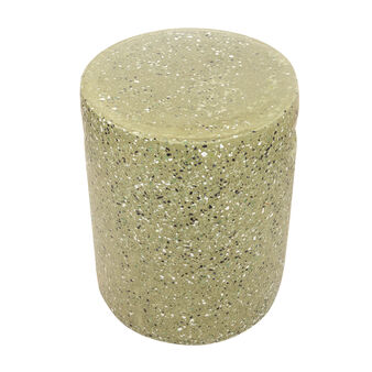 Terrazzo-effect concrete stool