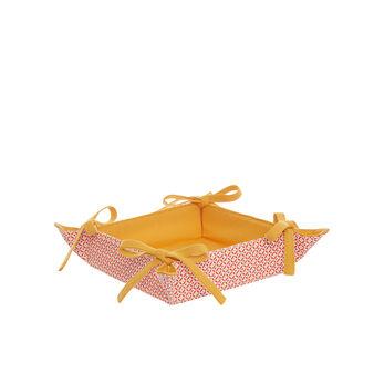 Square 100% cotton basket with diamonds print